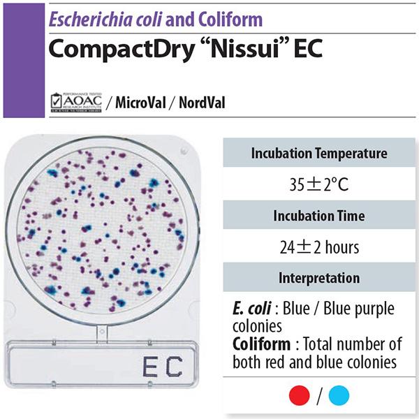 微生物快篩測試組_大腸桿菌/大腸桿菌群 Compact Dry EC 2